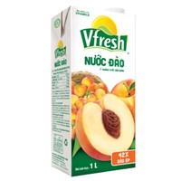 Nước trái cây Vfresh hương Đào hộp 1 lít