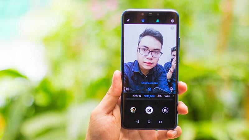 Camera trước selfie của điện thoại Huawei Nova 3i