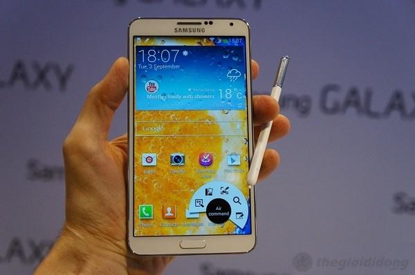 Samsung Galaxy note 3 với tính năng Air Command
