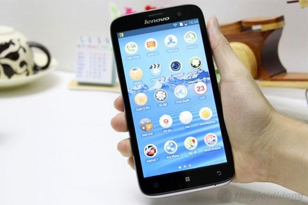 Lenovo A850 có màn hình rộng lên đến 5.5 inch