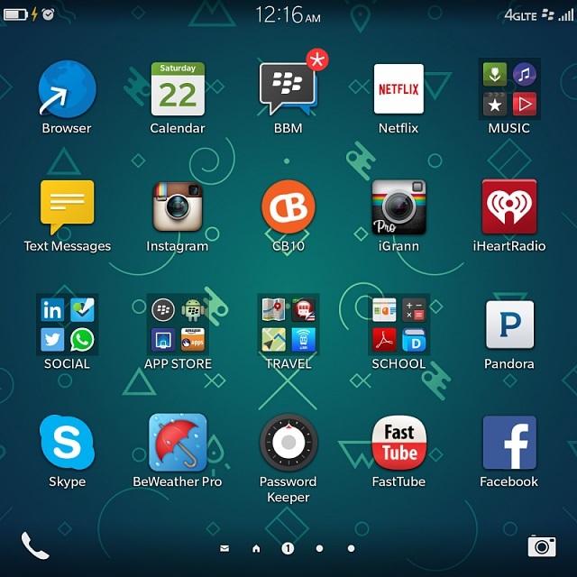 Giao diện ứng dụng HĐH BlackBerry OS 10