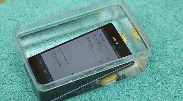 xperia z4 có khả năng chống nước, chống bụi