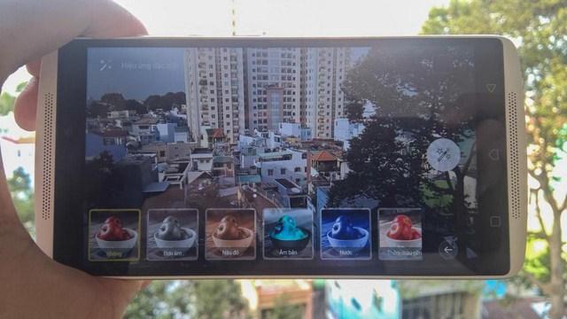 Giao diện chụp ảnh chính trên Lenovo A7010 được sắp xếp đơn giản, dễ dàng sử dụng