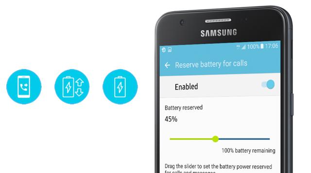 Samsung Galaxy J5 Prime - Tính năng tiết kiệm pin mới S Power Planning