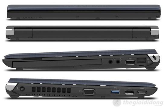 Các cổng kết nối của Toshiba Portege R930 đều được bố trí ở 2 cạnh trái, phải