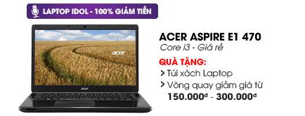 Laptop Acer Aspire E1 470 i3 3217U/2G/500G