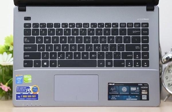 Asus X450LC bàn phím chiclet và touchpad