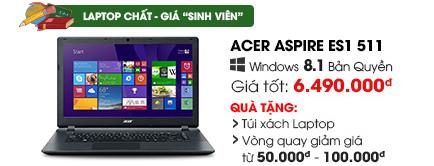 Laptop Acer Aspire ES1 511 Celeron N2930/2G/500G/Win8