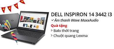 Laptop Dell Inspiron 3442 i3 4005U/4G/500G/Win8.1