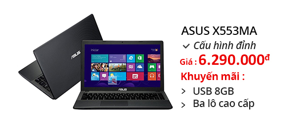 Laptop Asus X553MA N2840/2GB/500GB/Win 8.1