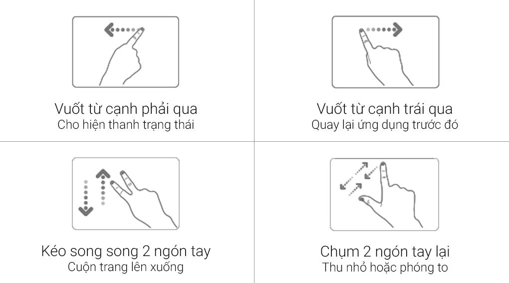 Đa cách điều khiển touchpad