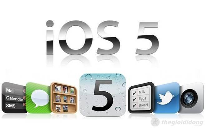 Được trang bị iOS 5 và nâng cấp lên iOS 6
