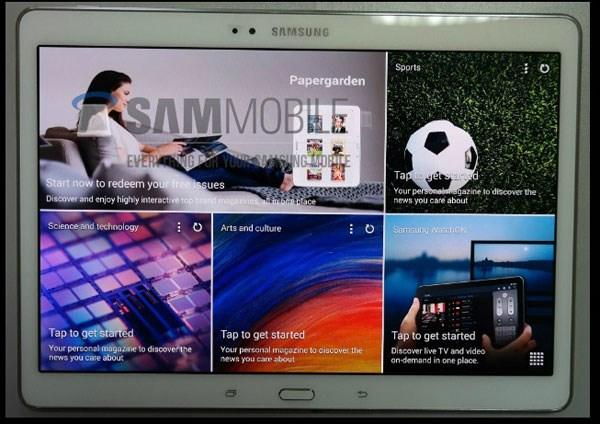 Samsung Galaxy Tab S 10.5 giao diện Magazine UX