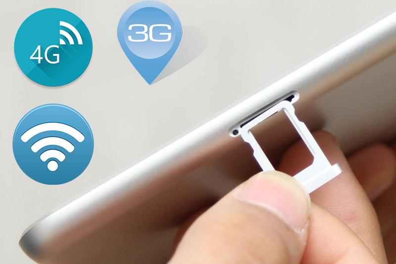 Với khe cắm sim để bạn có thể kết nối mạng 3G và 4G tốc độ nhanh hơn