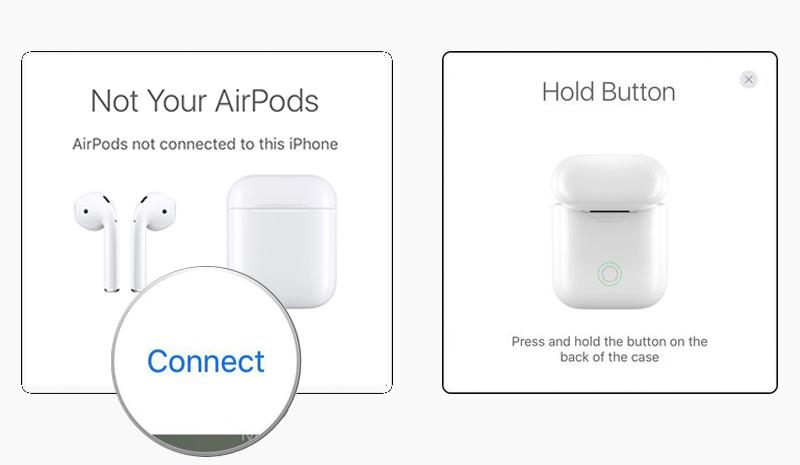 Tai nghe Bluetooth AirPods Apple MMEF2 - Trên màn hình iPhone sẽ hiện ra hộp thoại thông báo kết nối