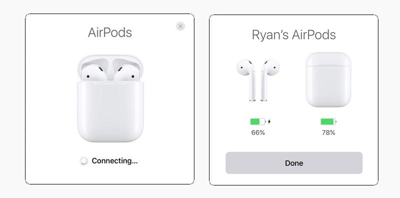 Tai nghe Bluetooth AirPods Apple MMEF2 - Màn hình sẽ hiển thị phần trăm pin của tai nghe