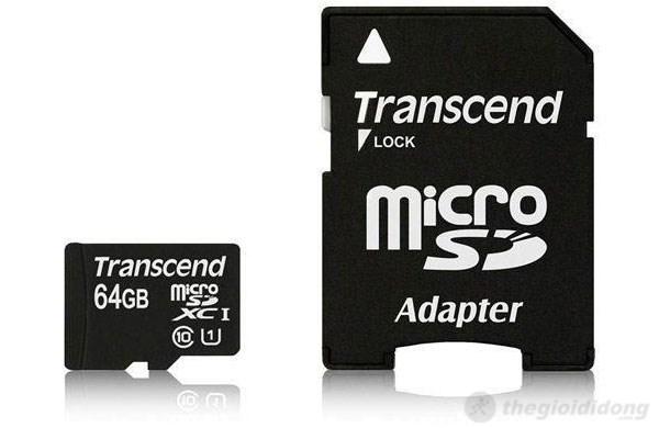 """Transcend MicroSD 64GB nhỏ nhưng không hề """"nhỏ"""""""