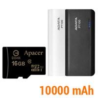 Combo thẻ nhớ 16GB + sạc dự phòng 10000 mAh