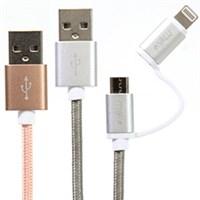 Cáp 2 trong 1 Micro USB & Lightning eValu LTD-01