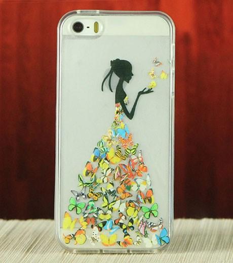 Ốp lưng - Flipcover điện thoại Ốp lưng iPhone 5/5S da in Sao Tím