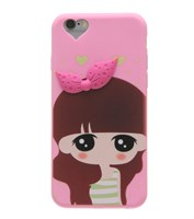 Ốp lưng iPhone 6-6S Nhựa Silicon Cô gái