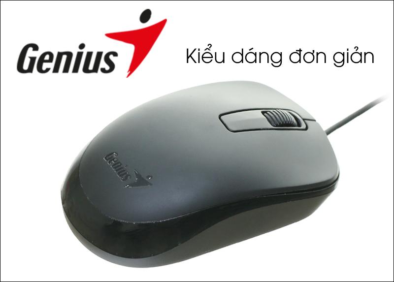 Kết quả hình ảnh cho Chuột có dây Genius DX-125 Đen