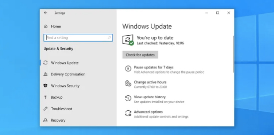 Windows Updates trên Windows 10