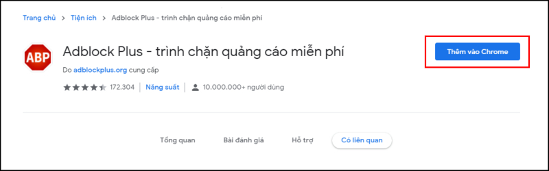 Chặn quảng cáo Google Chrome bằng Adblock Plus