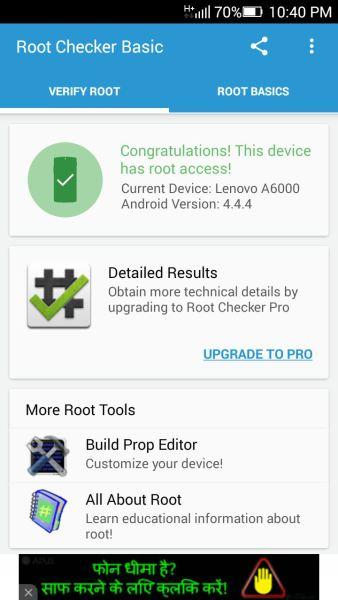 Root Lenovo A6000 thành công