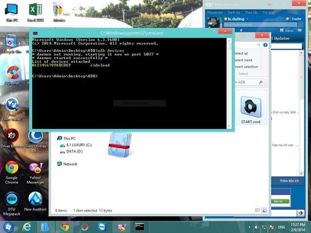 Hướng dẫn cài đặt CWM Recovery và Root cho Zenfone 4 chạy