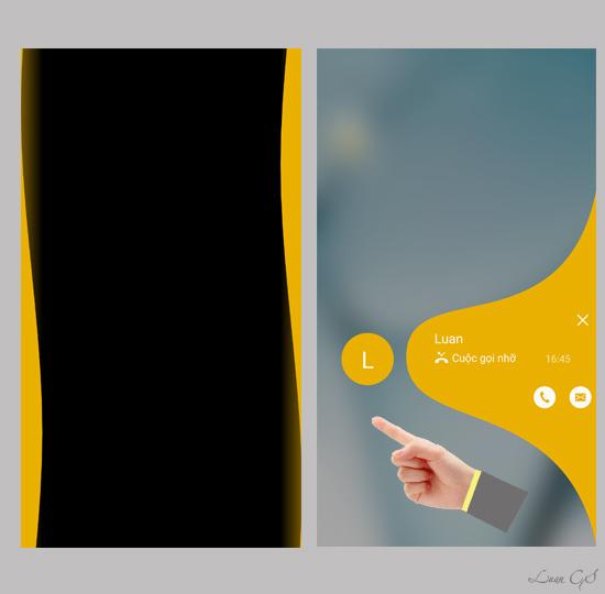 Đèn thông báo hai bên màn hình cạnh hiển thị màu sắc khác nhau