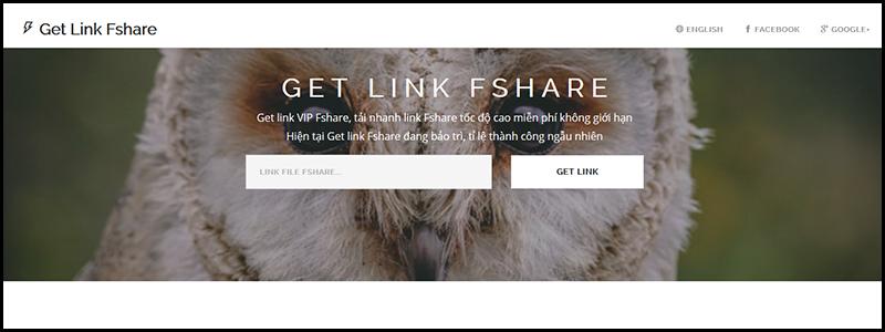 Trang web getlinkfshare.com