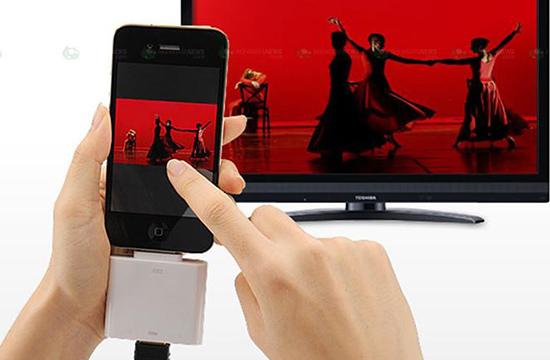 Sử dụng HDMI dùng cho iPhone 4 trở lên