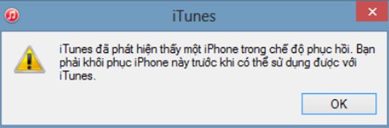 Khi đó màn hình sẽ xuất hiện một thông báo là chiếc điện thoại iPhone của bạn bị vô hiệu hóa
